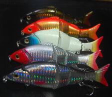 5PCS Fishing Multi section Lure 4 Segment Swimbait Crankbait Minnow 12cm/22g