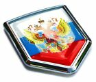 Russian Flag Emblem Russia Car Chrome Decal Sticker