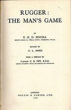 "E.H.D.SEWELL - ""RUGGER: THE MAN'S GAME"" - C.B. FRY PREFACE - HARDBACK (1950)"