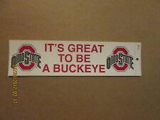 NCAA Ohio State It's Great To Be A Buckeye Logo Bumper Sticker