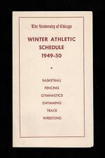 >orig. 1949-50 UNIVERSITY OF CHICAGO *Sports Schedule* for Track/Basketball++
