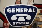 """Large Vintage 1960's GTE General Telephone System Electric Phone 36"""" Metal Sign"""