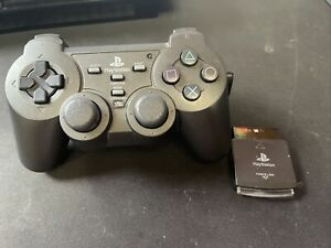 PlayStation 2 PS2 Black Wireless Force 2 Controller Near Mint Tested Works