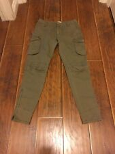 PIKO 1988 Women skinny Ankle Cargo Pants army Green size M