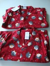 GYMBOREE Holiday Christmas Red Penguin Pjs Pajamas Boy Size 4 NWT - 2 Pairs
