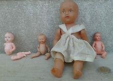 Lot d'ancienne petite poupée en plastique,vieux jouet, old french doll