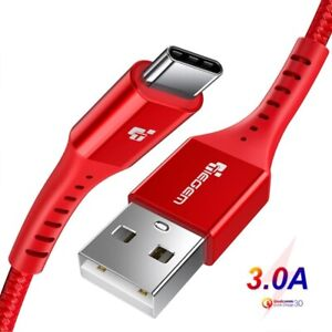 TIEGEM USB Type C Cable USB-C Mobile Phone Fast Charging For Xiaomi Samsung HTC
