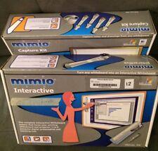 MIMIO Xi USB INTERACTIVE WHITEBOARD CAPTURE KIT VIRTUAL INK COMPLETE WORKING SET