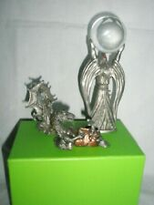 3 Pewter Figures, Wizard, Dragons, Crystal Ball- Spoontiques +-