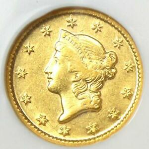 1849-O Liberty Gold Dollar G$1 - Certified NGC AU55 - Rare New Orleans Coin