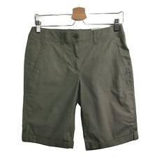 CHICOS Women's Size 00 US Size 2 Stretch Bermuda Short Olive Green