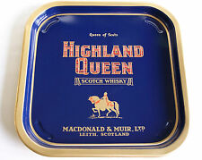 VINTAGE HIGHLAND QUEEN SCOTCH WHISKY MACDONALD & MUIR TIN PUB SERVING TRAY BAR