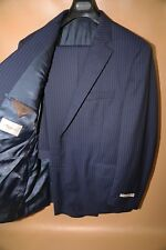 #74 Peter Millar Blue Striped Two Button Suit Size 44 R