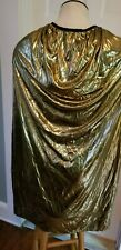 "44"" Metallic adult costume gold cape (royalty, magician, superhero, knight)"