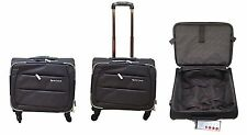 4Wheeled Business Laptop Briefcase Cabin Bag Trolley Case Hand Luggage Grey B178