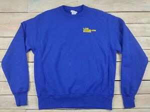 New Champion NFL Los Angeles RAMS Reverse Weave Blue Crew Neck Sweatshirt Size M