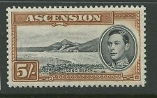 Ascension Island SG46a 1944 5s black & yellow brown P13