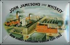 "John Jameson's Three Star Irish Whiskey old Advert on Metal Sign 12"" x 8"""