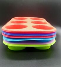 1 X 6 SILICONE LARGE MUFFIN YORKSHIRE PUDING MOULD BAKEWARE CUP CAKE BAKING TRAY