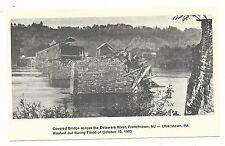 1978 1903 NJ Frenchtown New Jersey PA Uhlerstown Pennsylvania Flood Postcard