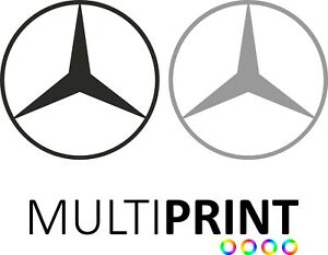 2x Large Mercedes Van Car Side Decals Stickers All Colours 400mm x 400mm VAN12