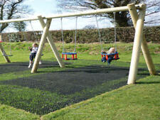 Heavy Duty Rubber Grass Mat Outdoor Safety Flooring Childrens Playground Area