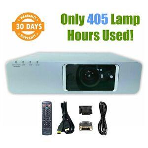 Panasonic PT-FW300U 3LCD Digital Projector - Only 405 Lamp Hours Used w/bundle