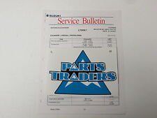 OEM Suzuki Motorcycle Service Bulletin Specification Spec Sheet 37K1-07 LT80 01