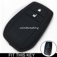 Silicone Key Cover Case Fob For Toyota Hilux Innova Rav4 Fortuner 2 Buttons