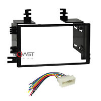 Car Radio Stereo Double Din Dash Kit Wire harness for 2005-2008 Hyundai Kia
