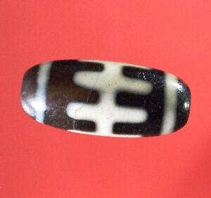 Rare Tibet dZi Bead Amulet Agate Tibetan Pendant Herringbone Amulets beads Power