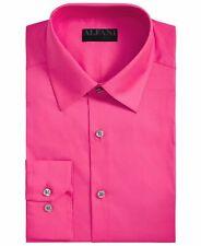 Alfani Mens Dress Shirt Pink Size Medium M 15-15 1/2 Slim Fit Stretch $60 #025