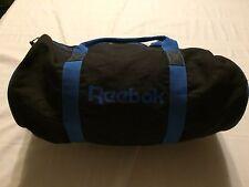 Vtg REEBOX Spellout 80s 90s Gym Duffel Bag Vintage Black Blue Zipper EUC RARE