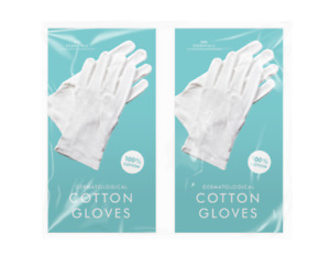 Dermatological White Cotton Gloves Hand Cream Eczema Moisturising