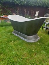 Double ended Roll top slipper  bath with stand