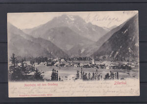 TOP Karte Mayerhofen mit Bahnhofkastenstempel gelaufen 9.VI.1907 nach Wien
