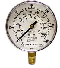 Ashcroft Fire Protection Sprinkler Water Pressure Gauge 300Psi, 2000kPa 20bar