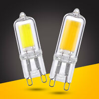 G9 LED COB LIGHT BULBS 3W 5W GLASS LAMPS 220V HALOGEN REPLACEMENT 2700K-6500K D