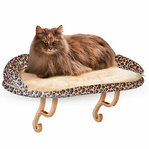"""K&H Pet Products Deluxe Kitty Sill with Bolster Leopard 14"""" x 24"""" x 10"""""""