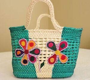 Mexican Bag,Ecologist Palm Folk Art Handmade Handbag, Artisan Purse