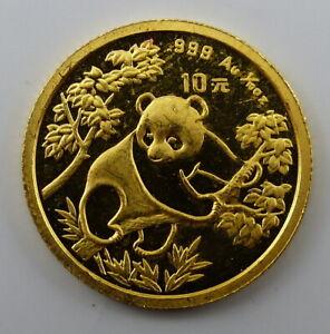 CHINA - 10 Yuan - Panda - 1/10 oz / Unze Gold 999 - 1992 (311)