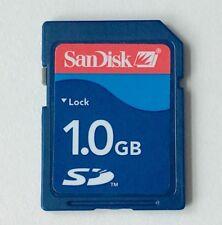SanDisk 1GB SD Memory Card Class 2 SDSDB-1024 For digital camera Standard Blue