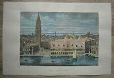 1875 Reclus print VENEZIA VENICE, ITALY (#27)