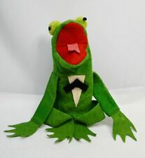 rare Old felt Kermit the frog Muppets hand puppet