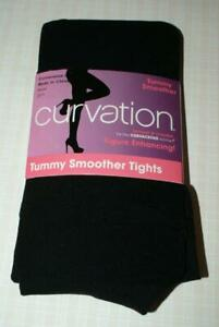 CURVATION Black Tummy Smoother Tights Size 2 (195-225 lbs) NEW!