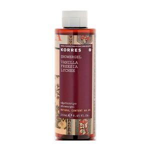 Korres Natural Moisturising Perfumed VANILLA / FREESIA / LYCHEE  Showergel 250ml
