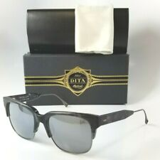 2ebc000851a0 NEW DITA TRAVELLER BLACK GREY 19014 C GRY SLV 55 TITANIUM RX READY  SUNGLASSES