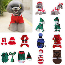Pet Dog Puppy Christmas Costume Santa Claus Hoodie Coat Winter Warm Soft Clothes