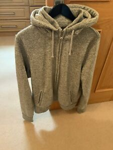 Men Grey Abercrombie And Fitch Zipper Hoodie (XL)
