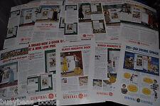 1948-51 General Electric Fridge advertisements x10, Refrigerator-Freezer, GE